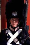 Guardia real Amalienborg Palace Copenhagen Dinamarca Fotos de archivo libres de regalías