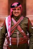 Guardia real Petra Jordan Fotos de archivo libres de regalías
