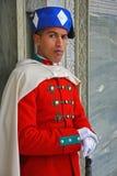 Guardia reale davanti al mausoleo a Rabat. Immagine Stock Libera da Diritti