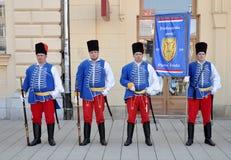 Guardia storica di Frankopan dell'unità militare Fotografia Stock
