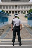 Guardia sudcoreana a DMZ fotografie stock libere da diritti