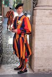 Swiss Guard in Vatican. Guardia Svizzere Guardia Svizzere is the name given to the body guard responsible since January 22, 1506 for the Pope`s safety. Today it royalty free stock images