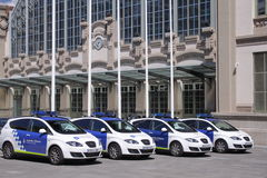 Guardia Urbana. A Patrol cars of the Guardia Urbana in Barcelona(Catalonia Spain Stock Photo