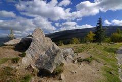 Guardian. The Karkonosze Mountains during fall Royalty Free Stock Image