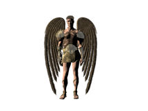 Guardian angel. A isolated portrait of an angel, bryce 3D creation Stock Images