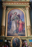 Guardian angel. Altarpiece in the Basilica of the Sacred Heart of Jesus in Zagreb, Croatia Stock Photography