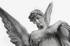 Guardian Angel As A Symbol Of Human Security (fragment Of Statue Royalty Free Stock Images