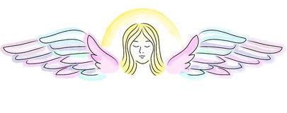 Guardian Angel Banner. Illustration of an angel in pastel colors...suitable for a header or banner Royalty Free Stock Photography