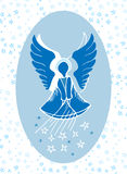 Guardian angel bestowing stars from above Royalty Free Stock Image