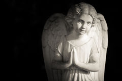 Guardian angel. Black and white photo Royalty Free Stock Photos