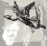 Guardian Angel, Condolences - Hand drawn vetor, freehand Royalty Free Stock Photos