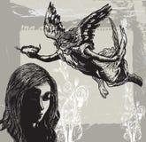 Guardian Angel, Condolences - Hand drawn vetor, freehand Stock Photography