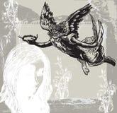 Guardian Angel, Condolences - Hand drawn vetor, freehand Stock Photo