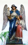 Guardian Angel. Convent of the Sisters of Charity of Saint Vincent de Paul in Zagreb, Croatia Royalty Free Stock Photography