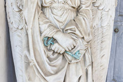 Guardian Angel. Holds the key to heaven door Royalty Free Stock Image