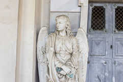 Guardian Angel. Holds the key to heaven door Royalty Free Stock Photos