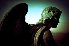 Guardian angel. In low light Royalty Free Stock Photos