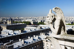 Guardian angel Notre Dame de Paris Royalty Free Stock Photography