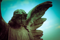 Guardian angel. Over sky background Royalty Free Stock Images