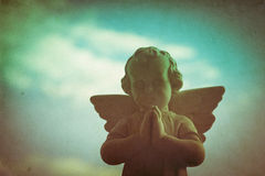 Guardian angel retro background Royalty Free Stock Photography