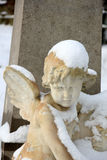 Guardian Angel in the snow Royalty Free Stock Photos