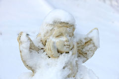 Guardian Angel in the snow Stock Photos