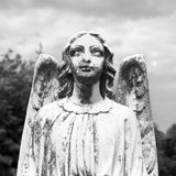 Guardian angel statue. In graveyard Royalty Free Stock Image