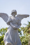 Guardian angel statue. Close up of a statue of a guardian angel as an outdoor decoration or gave marker Royalty Free Stock Photography