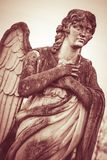 Guardian angel statue vintage style. Guardian angel statue - vintage style photo Stock Image