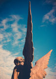 Guardian angel. Vintage style photo Royalty Free Stock Photography
