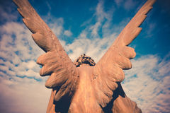 Guardian angel. Vintage style photo Stock Images