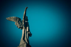 Guardian angel. Vintage style photo Royalty Free Stock Image