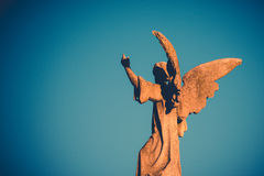 Guardian angel. Vintage style photo Royalty Free Stock Photos