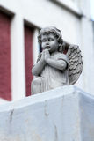 Guardian angel white. Sculpture of an angel decoration cemetery in singapore stock photography