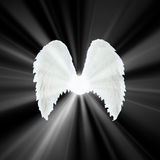 Guardian Angel   white wings Stock Photos
