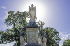 Guardian Angels. A large monument with angels in a old cemetary Stock Images