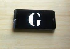 The Guardian app royalty-vrije stock foto
