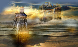 The guardian of the celestial palace Royalty Free Stock Photos