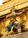 Guardian deity on the walls of kings palace, Bangkok, Thailand. Guardian deity on the walls of kings palace Royalty Free Stock Image
