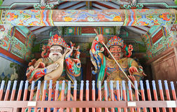 Guardian Demons at the Gates of Buddhist Royalty Free Stock Photography