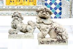 Guardian fu dog sculpture Stock Photos