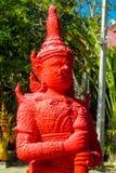 Guardian Giant Suriyaphob, mythological guard statue in Thailand wat. Guardian Giant Suriyaphob at Thai Buddhist Temple , mythological guard statue in Thailand Stock Images