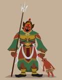 Guardian god of Buddhism Stock Image