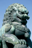 Guardian lion. A Guardian lion in front the the Emperor's Palace in Beijing royalty free stock images