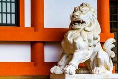 Guardian lion. Close up shot of Japanese guardian lion royalty free stock image