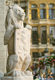 Guardian lion from medieval town hall Stock Photos