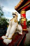 Guardian lion of Soon U Pone Nya Shin temple,Myanm Stock Photos
