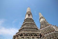 Guardian on pagoda Stock Photography