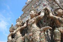 Guardian on pagoda Royalty Free Stock Photos