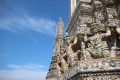 Guardian on pagoda Stock Photos